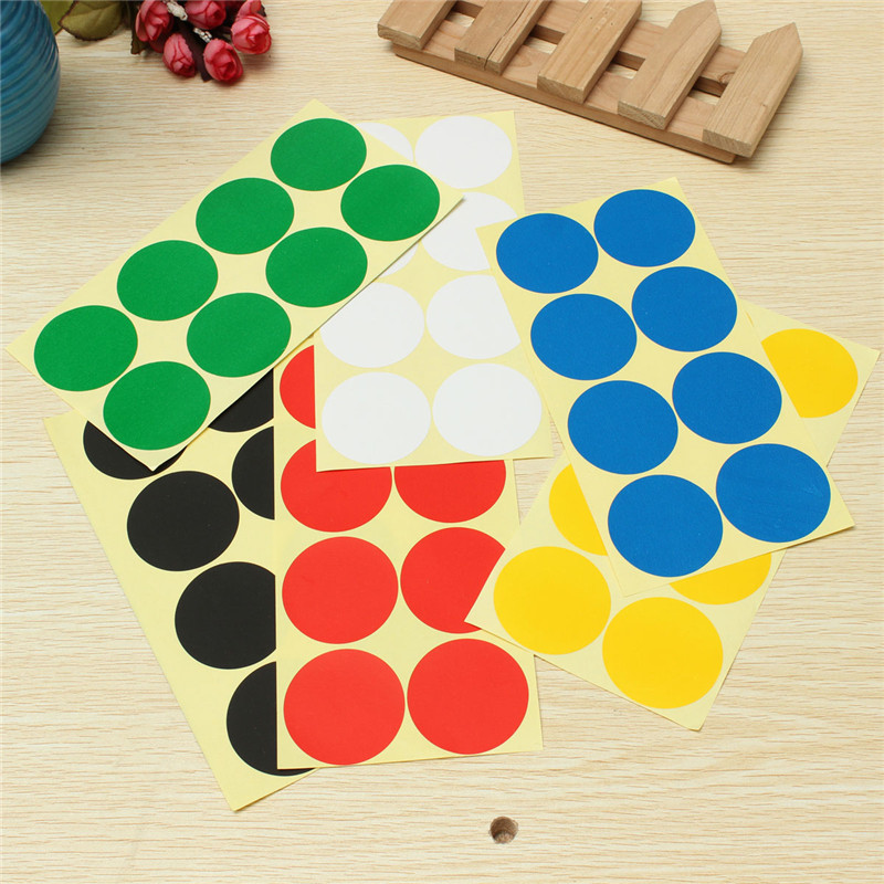New Arrival Beautiful Design 50mm Plastic Vinyl Colour Round Code Dot Blank Stickers Adhesive Sticky Labels Approx 50mm(China (Mainland))