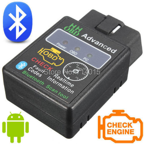 Design HH OBD Advanced MINI ELM327 v2.1 Black Bluetooth OBD2 Car CAN Wireless Adapter Scanner Tool - Smart ANT store