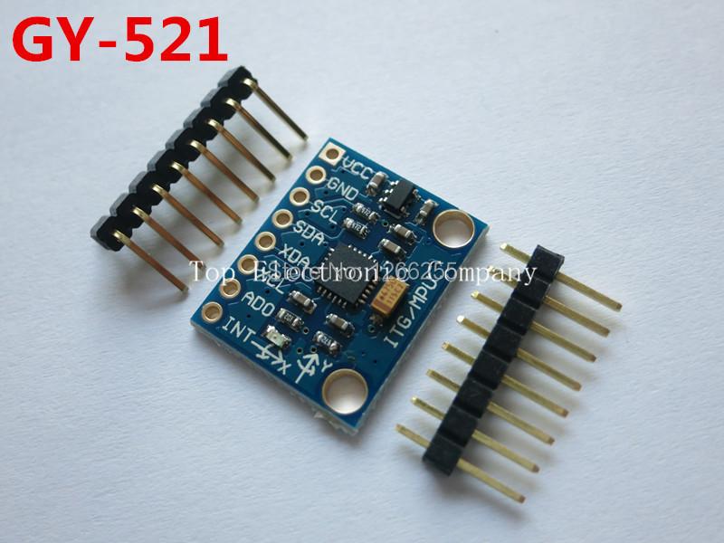 Free Shipping GY 521 MPU 6050 mpu6050 module 3 Axis analog ...