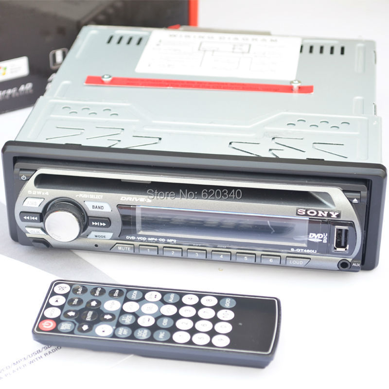 Sony Car Factory Outlet single-disc DVD player, car DVD player car CD/MP3/MP4 players can be inserted U disk / SD card(China (Mainland))
