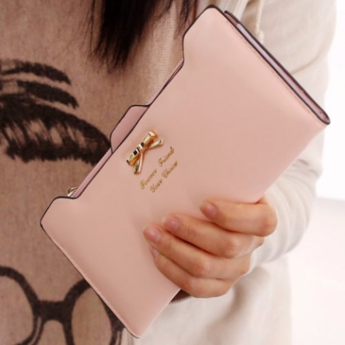 Quality Guarantee Women Fashion Long Wallet Handbags Ladies Wallet Leather Bag Popular Purse Card Holder Free Ship Para Mujer(China (Mainland))