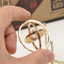 2016 Hot selling Harry Potter Time Turner Necklace Hermione Granger rotating back gold tree hourglass Necklace