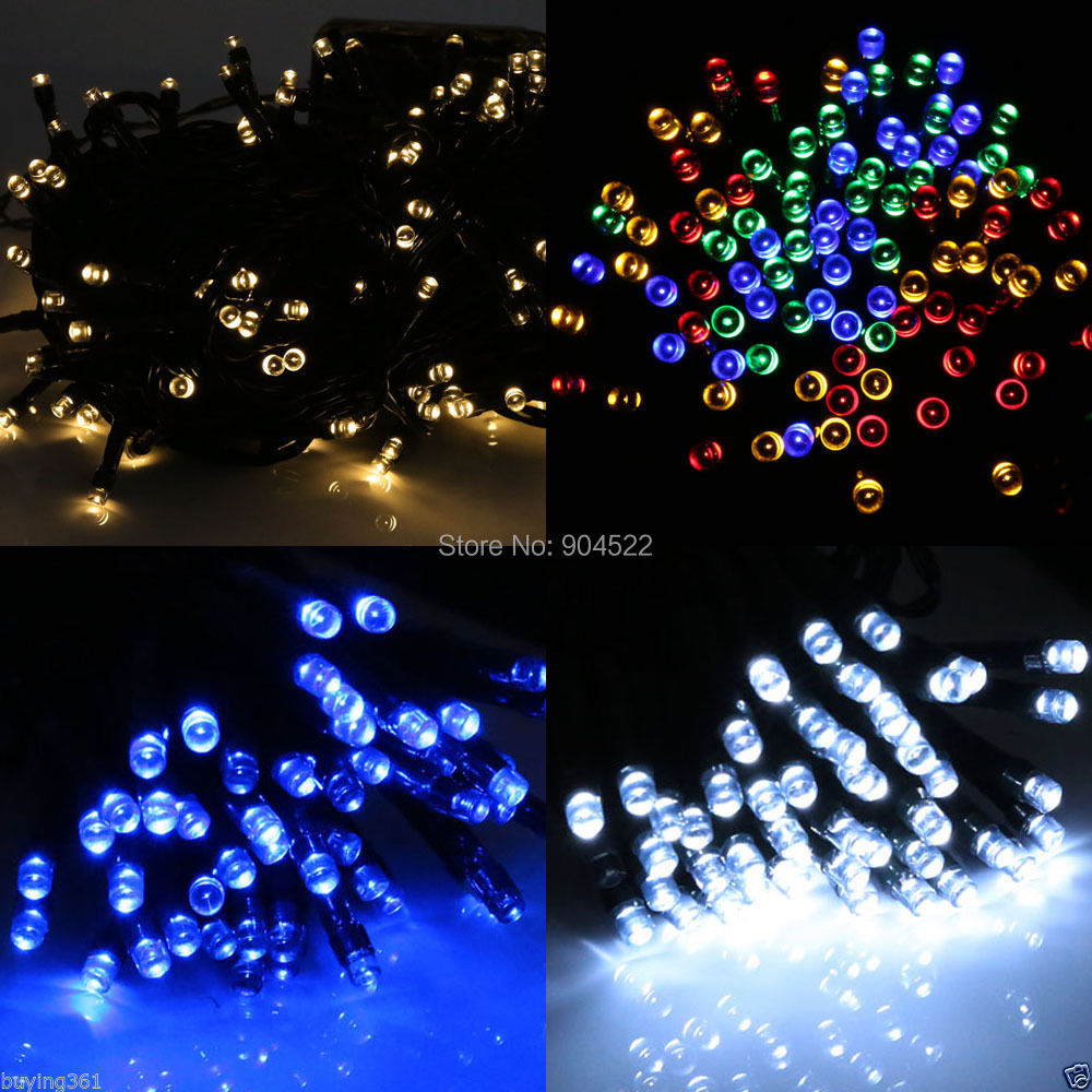 12M 100 LED Strip Solar Powered Fairy String Christmas Xmas Tree Decoration Lights Lamp Party Garden Wedding Outdoor(China (Mainland))