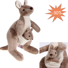 2015 New Australia Kangaroo Animal Plush Cute Doll Toys Car Pillow Cushion Kid Baby Gift Promotion Present 30cm high (China (Mainland))