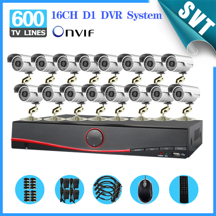 NVR 16 Channel outdoor waterproof night vision Security Camera System 16CH H.264 DVR HVR surveillance Kit for DIY CCTV System<br><br>Aliexpress