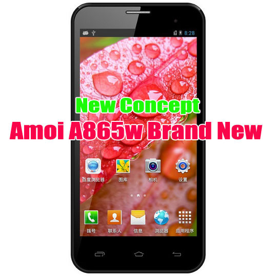 "Amoi A865W Quad Core Phone MSM8225Q 1.2GHz 4GB ROM 5"" IPS 960x540 pixels Android 4.1 5.0MP Camera Rooted Google Play"