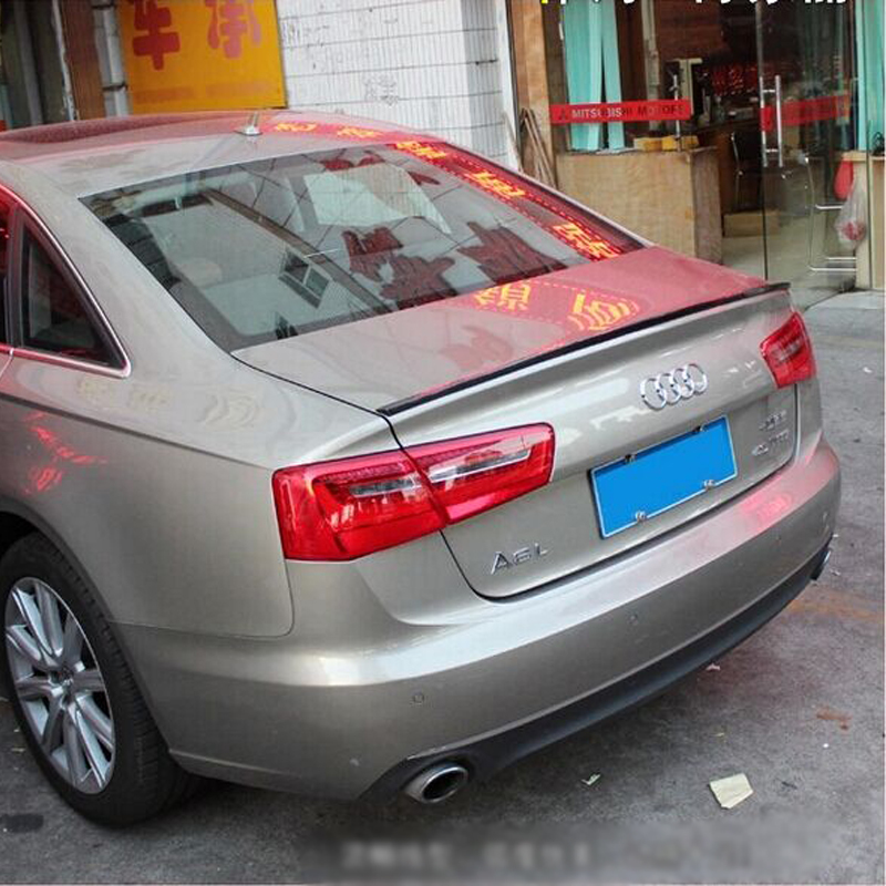A6 Car Styling Carbon Fiber Rear Trunk Lip Spoiler Wing for Audi A6 2012-2015 C7 Style(China (Mainland))