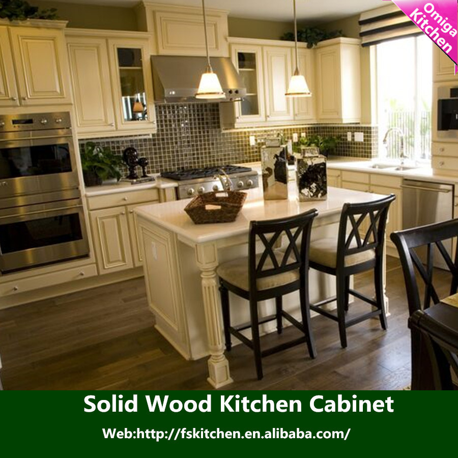 Top modern design high quality cheap price of solid wood for Inexpensive wood kitchen cabinets