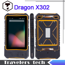 original Dragon X302 IP67 1D 2D barcode scanner rugged Waterproof tablet PC quad core 1GB RAM 16GB ROM NFC 8000mah Android4.4(China (Mainland))