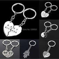 2015 New Arrival Best Bitches YinYang Best Friends Keychain Keyring Keyholder Fashion Friendship Pendant Wholesale