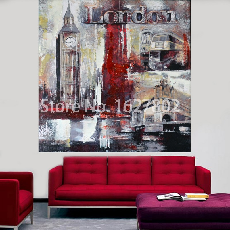City oil paintings picture more detailed picture about for Poster sur toile