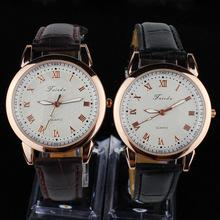 Hombres de la marca de negocios de lujo Ligth relojes números romanos precisión a prueba de agua noctilucentes pulsera de cuarzo de cuero