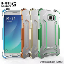 R-Just Gundam Metal Cases shockproof Phone Cover For Samsung Galaxy Note 5 N920K N920A Outdoors Climbing Running Aviation Cases