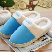 Autumn Winter Women Slippers Men Slippers Soft Comfort Warm Shoes Lovers Cotton Fabric Home Slippers Plush Slippers Women(China (Mainland))