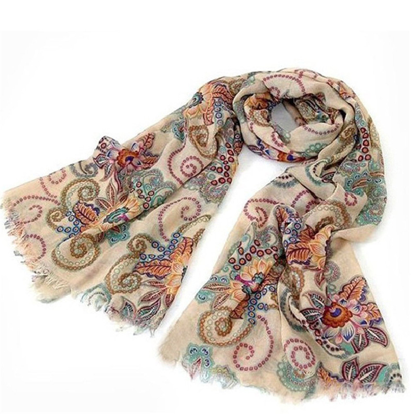 Best Deal New Women Vintage Warm Soft Knitted Scraves Laides Scarf Wrap Shawl Nation Patterns Gift 1PC