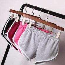 2016 Summer Street Fashion Shorts Women Elastic Waist Short Pants Women All-match Loose Solid Soft Cotton Casual Short Femme(China (Mainland))