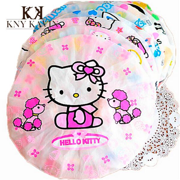 Высокое качество 1 шт. привет котенок ребенок уход ванна регулируемая детские шапочка для душа шампунь профессиональный шапка мальчик водонепроницаемый шлем hk271