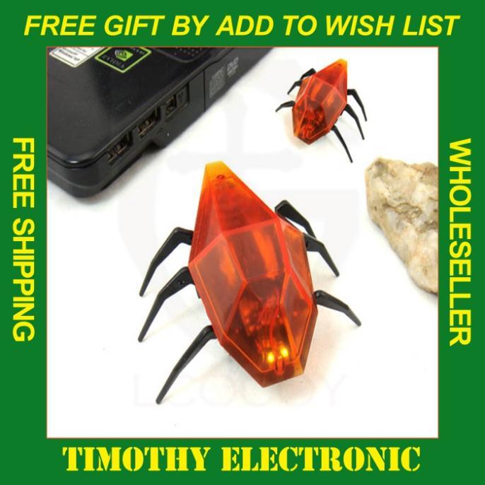 Hot! 10PCS/LOT USB Remote Infrared RC Mini Robot Electronic Toys Mechanical Beetles Controller # EC099(China (Mainland))