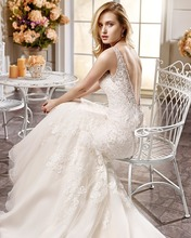 Buy Dreagel New Arrival Vintage Wedding Dress Luxury V-neck Backless Crystal Beaded Vestido de Noiva Gorgeous Lace Appliques Mermaid for $191.19 in AliExpress store