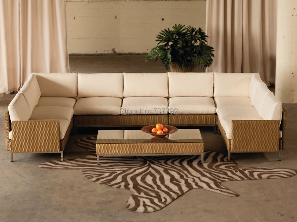 2016 Hot Sale Patio Modern Furniture Designer Rattan Element 7 Piece Turkish Sofa Furniture(China (Mainland))