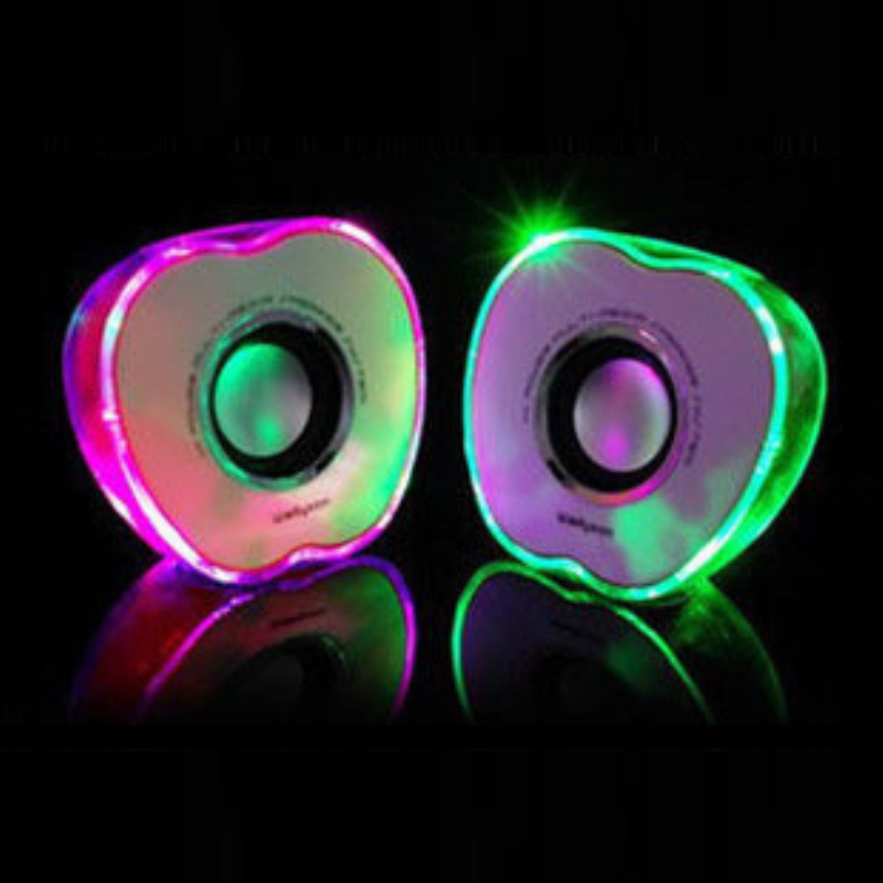 HUSOAR Shinning for apple style PC speakers 2.0 channel with perfect sound and best price(China (Mainland))