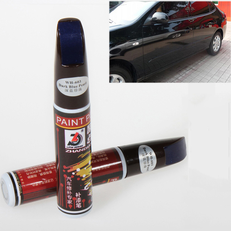 1pc 12ml Pearl Dark Blue Professional Car Care Paint Repair Pen Waterproof Fix It Pro Car Scratch Clear Remover Painting Pen(China (Mainland))
