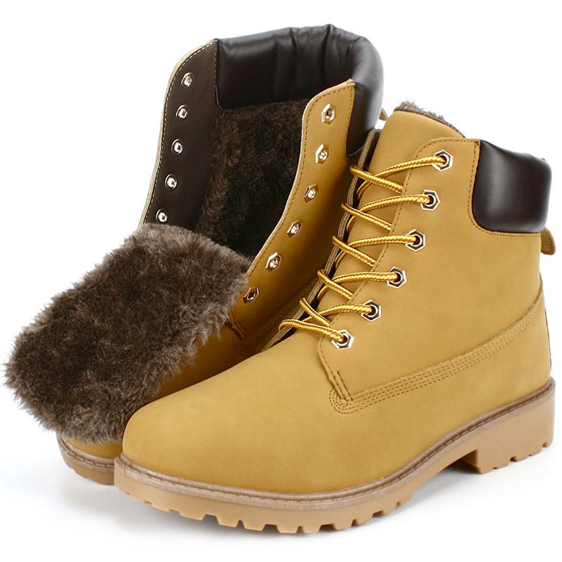 New big size men boots winter man ankle boot men's casual shoes snow shoe fur male martin cowboy autumn man fur botas boy warm