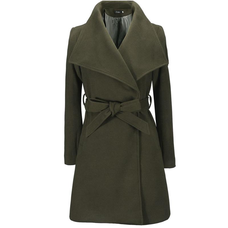 Гаджет  2015 Winter Black Military Elegant Long Wool Coat Retro Female Overcoat Womens Winter Jackets And Coats Zb151017 None Одежда и аксессуары