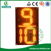 hot sell 12 inch 9/10 letter yellow color  LED digital Display/signs/signboard/signage/screen/panel for oil/gas staiton(China (Mainland))