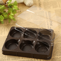 20pcs/lot Cup Cake boxes Cupcake favour muffin packaging storage case 6 cakes Holder