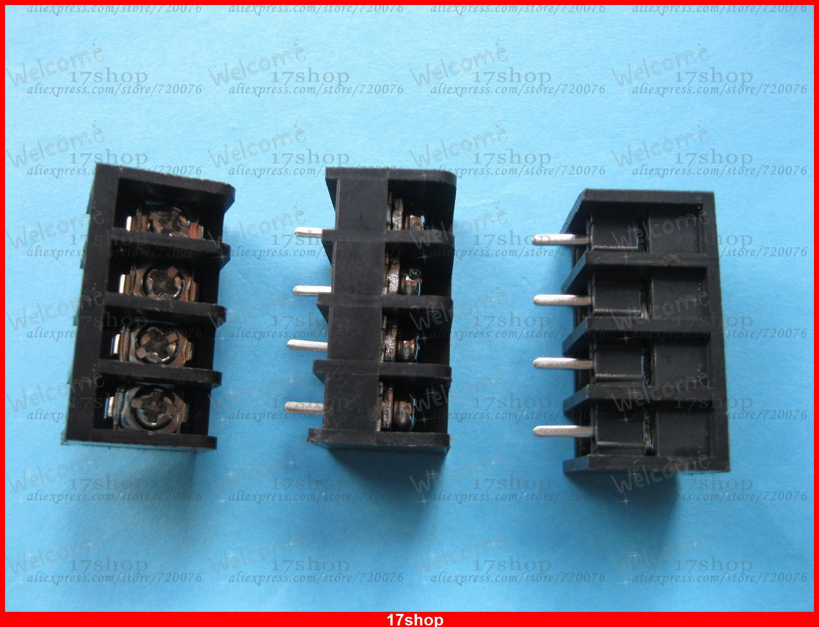 200 pcs Black 4 pin 8.25mm Screw Terminal Block Connector Barrier Type DC39B<br><br>Aliexpress