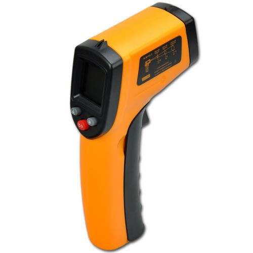 GM320 Non-Contact Laser Gun Infrared Digital IR Thermometer industrial LCD 330 degree + Free Shipping(China (Mainland))