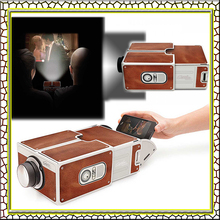 Cardboard Smartphone Projector 2.0 / Assembled Phone Projector Portable Cinema  in a box perfect  present for the gadget lover(China (Mainland))