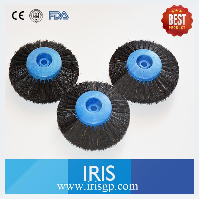 10 Pieces/lot Hub Wheel Brush Dental Polishing Cleaning Brush Buffing Rotary Bristle Plastic