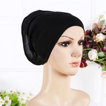 2016 New Arrival Designer Full Cover Inner Muslim Cotton Hijab Cap Islamic Head Wear Hat Underscarf 13 Colors Women Muslims Hat(China (Mainland))