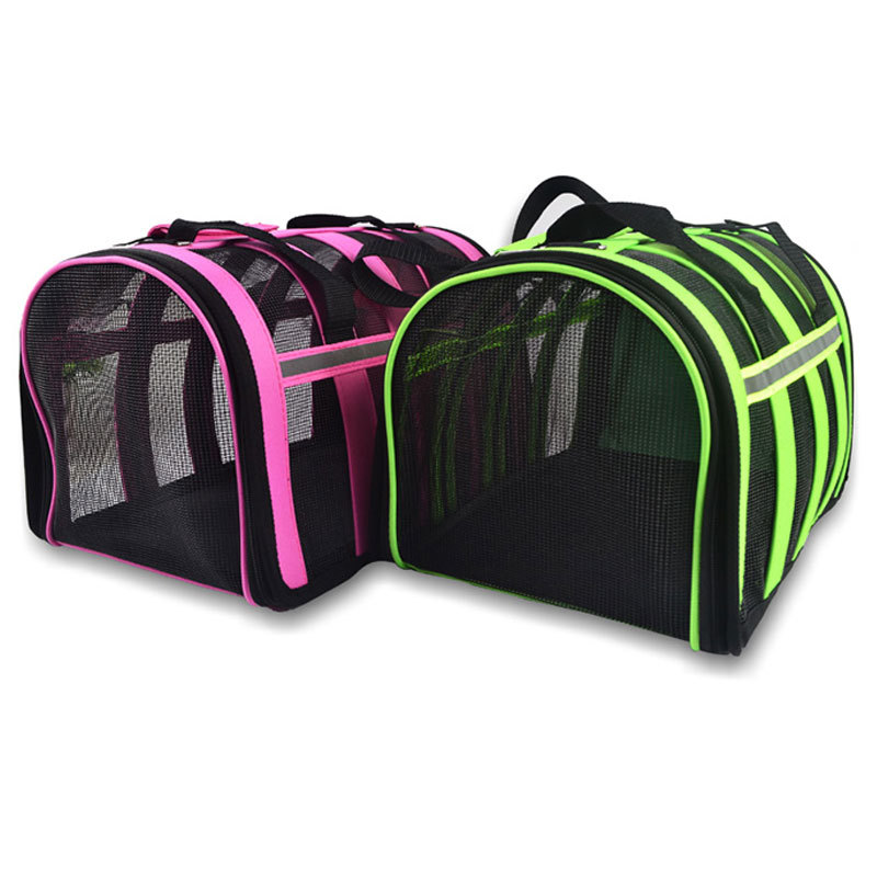 Pet Carrier Oxford Cloth Waterproof Fondable&Detachable Bite-resistent Portable Fashion Rosy&Green Carring Bag for Dogs Cats(China (Mainland))