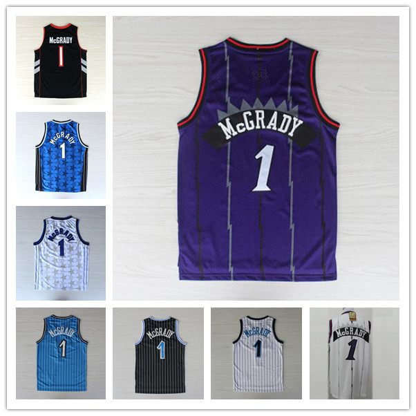 Fast Free Shipping Tracy McGrady Jersey #1 Basketball Jersey, Tracy McGrady Toronto Jersey Sport Jersey High Quality(China (Mainland))