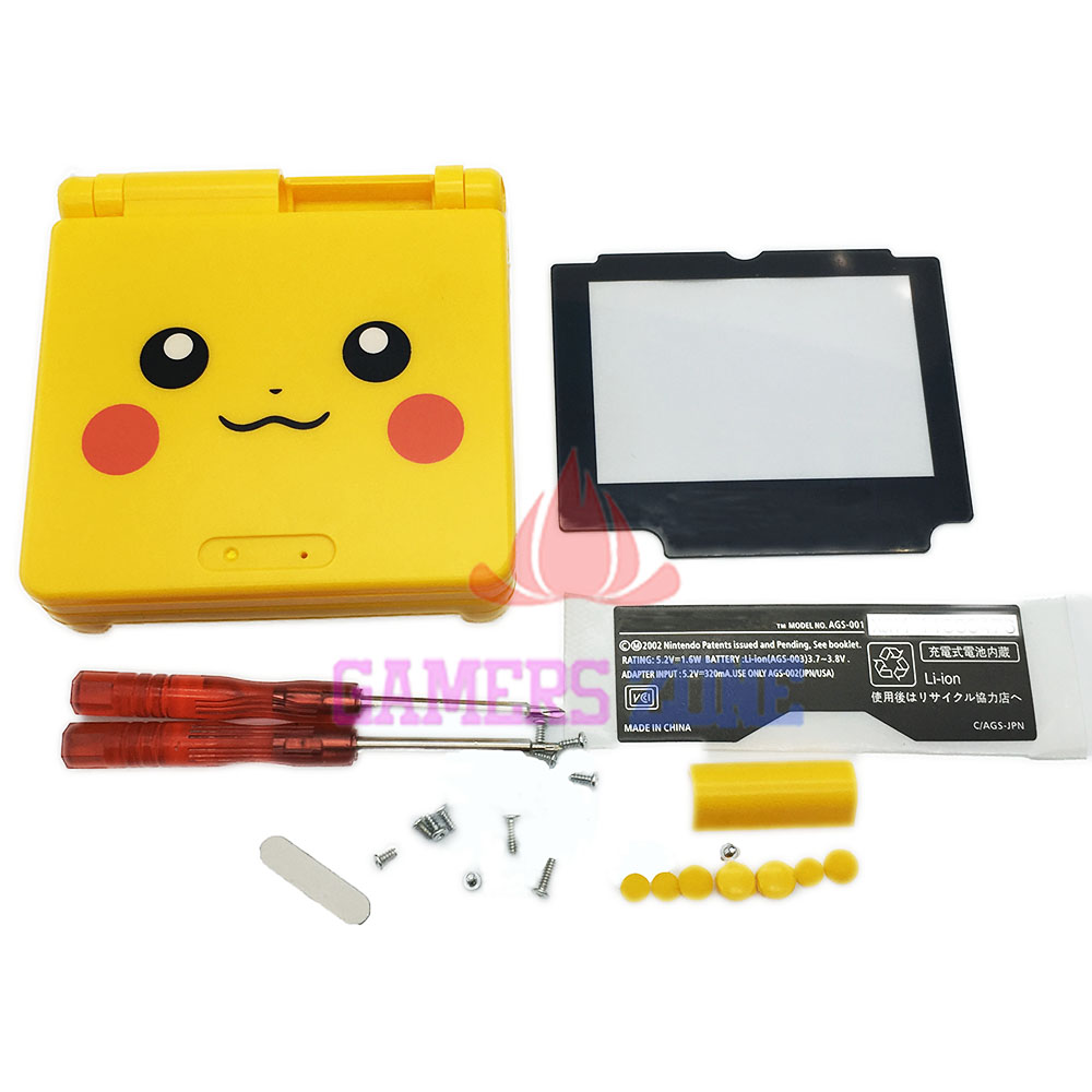 For Pokemon Limited Edition Housing Shell Case Cover for Nintendo Gameboy Advance SP For Pikachu Version(China (Mainland))