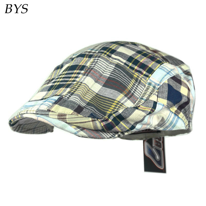 2016 New Retro Street Easy Traditional Solid Cotton Gatsby Newsboy Cap Kids and Baby Boy's Hat Houndstooth Driver Hat Casquette(China (Mainland))