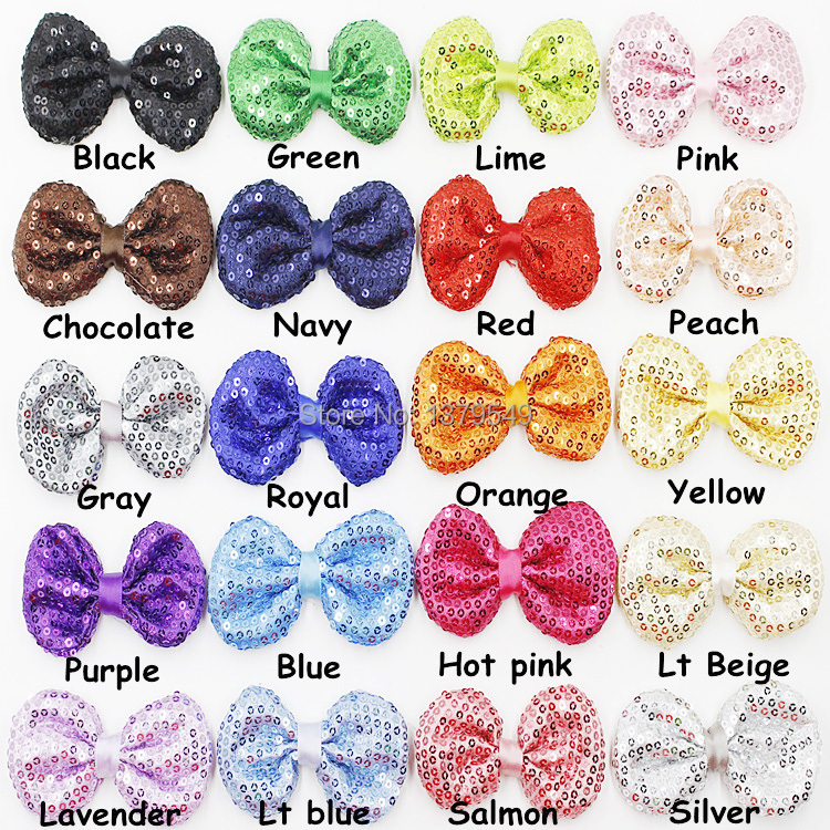 Large Sequin Bow Appliques - Puffy Sparkly Bows- Sequin Bows Applique Hair Accessory Одежда и ак�е��уары<br><br><br>Aliexpress