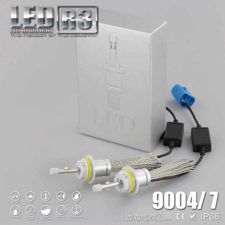 Купить ChoGath (TM) R3 80 Вт 9600lm XHP-50 Автомобилей СВЕТОДИОДНЫЕ Фары Комплект H1 H3 H4 H7 H8 H9 H11 9004 HB1 9005 HB3 9006 HB4 9007 HB5 9012 H13 9008