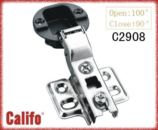 35MM cup hinge for glass cabinet C2908-half over lay for glass door. glass cabinet