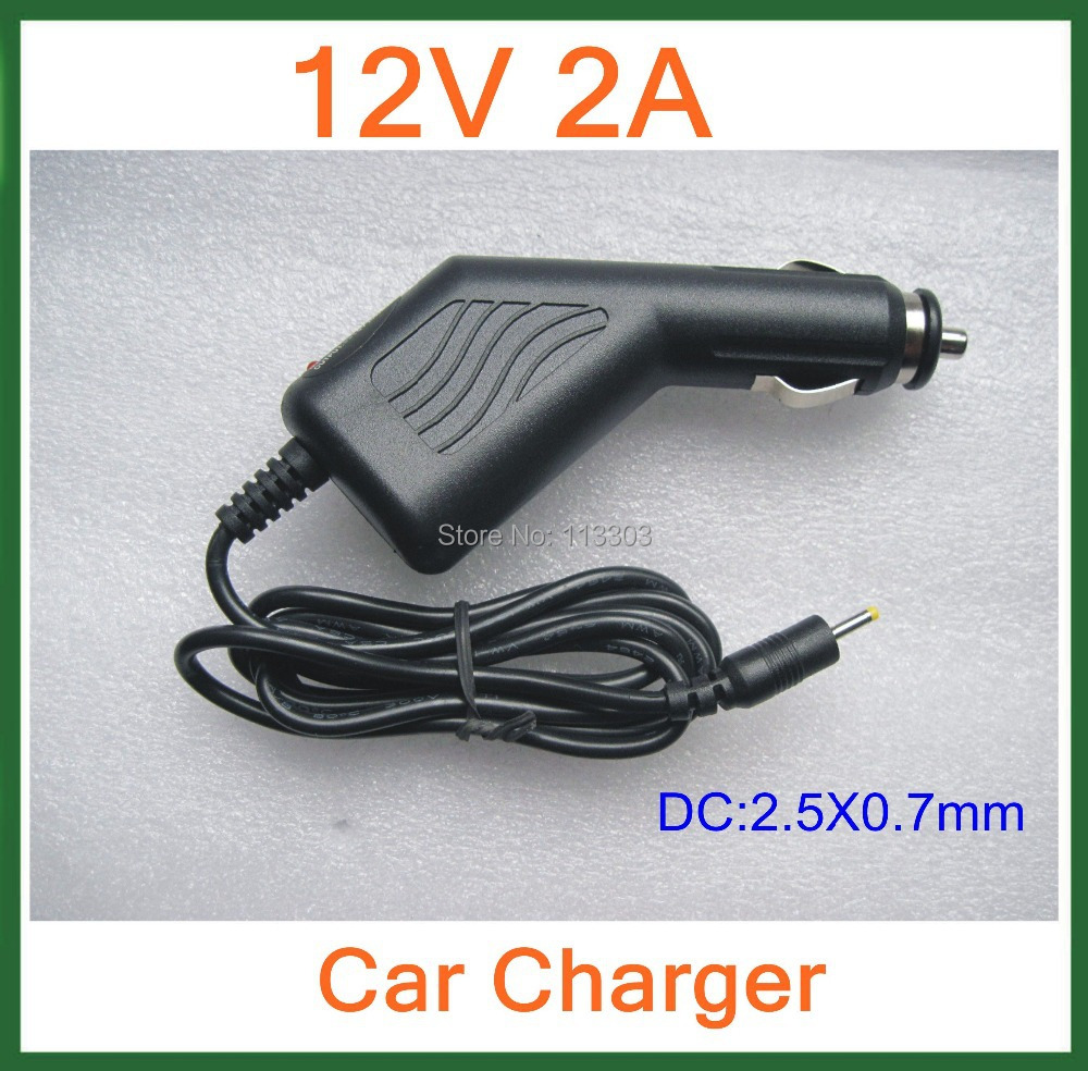 12V 2A Car Charger 2.5mm for Tablet PC Cube U30GT2 U9GT5 U9GT2 Ramos W22pro Vido N90FHD Visture V97 HD Adapter(China (Mainland))
