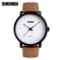 2016 SKMEI Brand Casual Men s Watches Leather Waterproof Joker Fashion Style Quartz Watch Men Sport