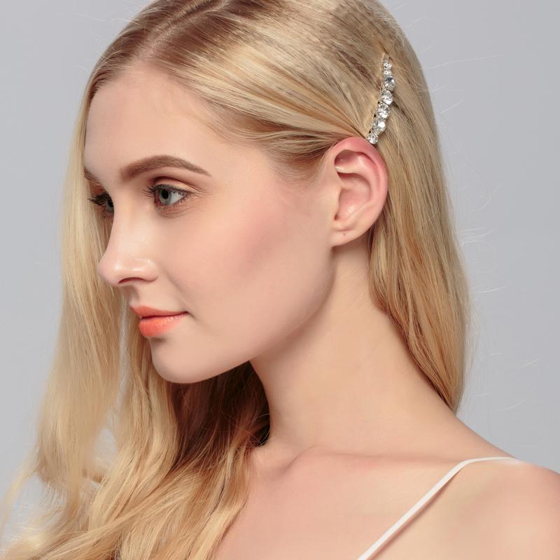 Miallo Flower HairClips Fashion Barrette Rhinestones Hair Clips Women Hair Accessories Crystal Head Bobby Pin Hair comb(China (Mainland))