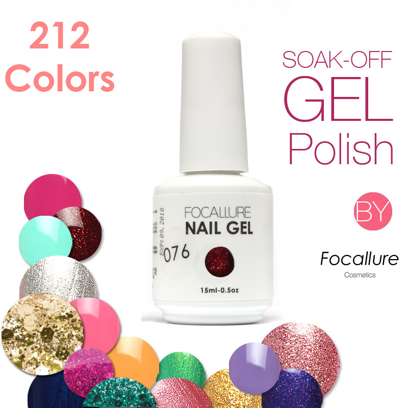 2016 New Arrival FOCALLURE Gel Nail Polish Nail Gel UV   Long-Lasting 212 Gorgeous Colors The Best Gel Polish Free Shipping<br><br>Aliexpress