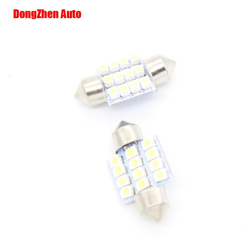 2014 new 50pcs 24v 12SMD LED 31mm White Car Dome Festoon Interior Light Bulbs Auto Car Festoon Licence Plate Dome Roof(China (Mainland))