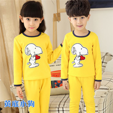 free shipping winter clothes girls baby kids boys children clothing sets suits pajamas for boys 2 piece sleepwear home lovely