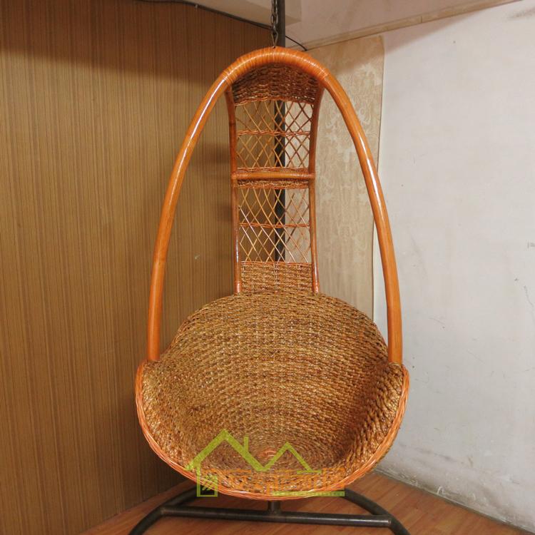 Outdoor wicker chair swing rattan basket rattan indoor