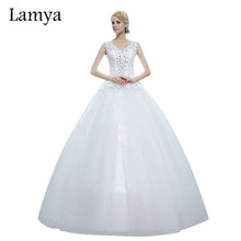 Buy Lamya V neck Lace Cheap Ball Gown Wdding Dress 2016 Vintage Plus Size Wedding Dress Princess Bride Gowns vestido de noiva for $49.49 in AliExpress store